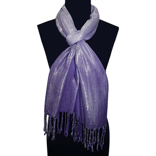 Urban-Trendz Solid/Plain Viscose Purple Stoles
