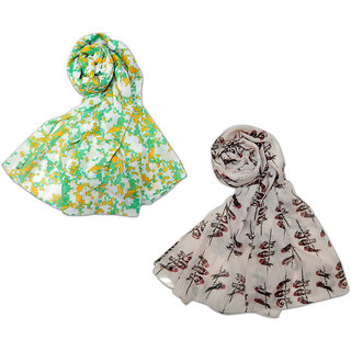 Urban-Trendz Printed Polyester Multicolor Stoles