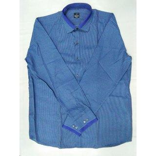Sai Enterprises Blue Button Down Full sleeves Shirt For Men
