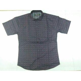 Sai Enterprises Gray Button Down Half Sleeve Shirt For Men