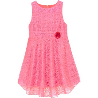 Caca Cina Girls' High-Low Net dress