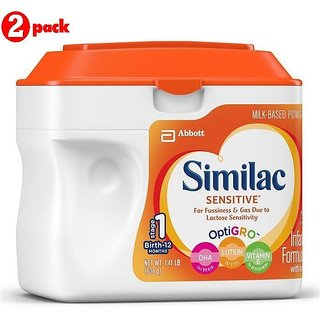 Similac Sensitive Infant Formula (0-12m) - 638G (US) (Pack of 2)