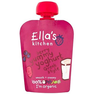Ella's Kitchen Berry Yummy Yoghurt Greek Style (6m+) - 90G