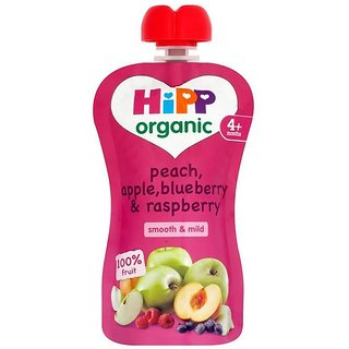 Hipp Organic Peach, Apple, Blueberry & Rasberry (4m+) - 100G