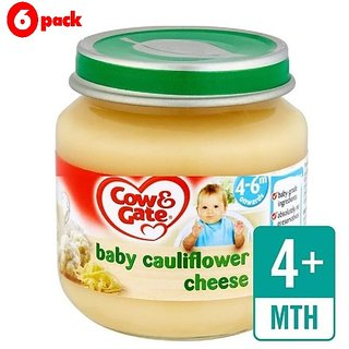 Cow & Gate Baby Cauliflower Cheese (4-6m+) - 125G (Pack of 6)