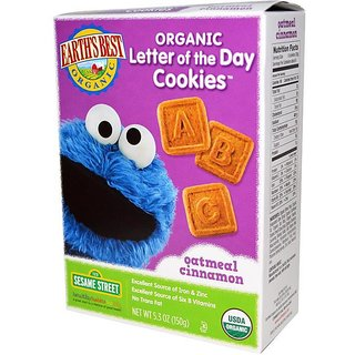 Earth's Best Organic Letter of The Day Cookies 150G (5.3oz) - Oatmeal Cinnamon