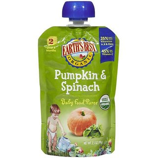 Earth's Best Organic Pumpkin & Spinach - 120G (4.2oz)