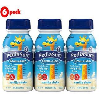Pediasure Grow & Gain 237ml (8oz) - Vanilla Shake (Pack of 6)