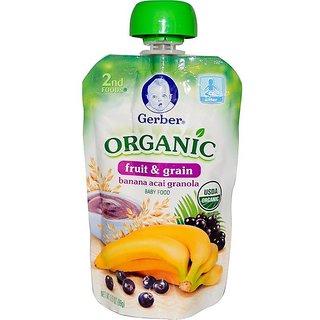 Gerber 2nd Foods 99G (3.5oz) - Organic Banana Acai Granola