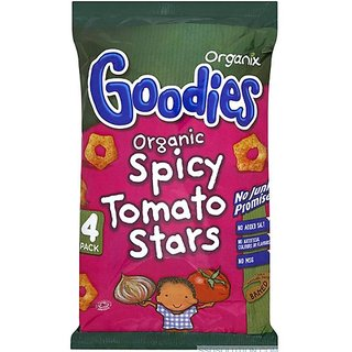 Organix Goodies Organic Spicy Tomato Stars (4Pk) - 60G