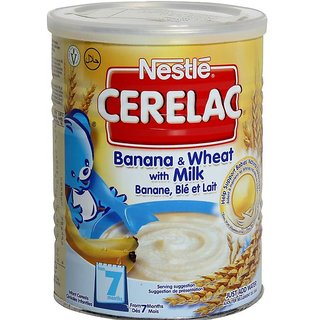 Nestle Cerelac Banana & Wheat With Milk (7m+) - 400G (Imported)
