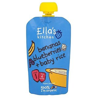 Ella's Kitchen Bananas Blueberries & Baby Rice (4m+) - 120G