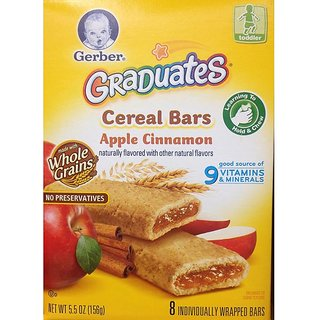 Gerber Graduates Cereal Bars 156G (5.5oz) -  Apple Cinnaman