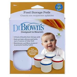 Dr Browns Food Storage Pods 4Pk (6m+)