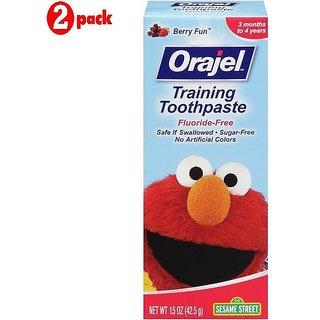 Orajel Training Toothpaste 42.5G - Sesame Street (Pack of 2)