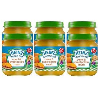 Heinz Mums Own Carrot & Sweet Potato Mash (4m+) - 120G (Pack of 6)