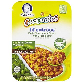 Gerber Graduates Lil' Entries 192G - Pasta Stars In Meat Sauce With Green Beans