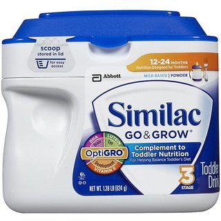 Similac Go & Grow Toddler Drink Stage 3 (12-24m) - 624G (1.38Lb) (US)