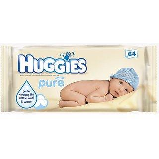 Huggies Wipes 64Pc - Pure