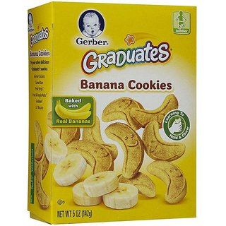 Gerber Graduates Banana Cookies - 142G (Pack of 3)
