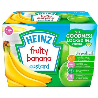 Heinz Fruity Banana Custard 4Pk (4-36m) - 400G