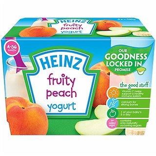 Heinz Fruity Peach Yogurt 4Pk (4-36m) - 400G