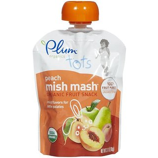 Plum Organics Tots Peach Mish Mash - 90G