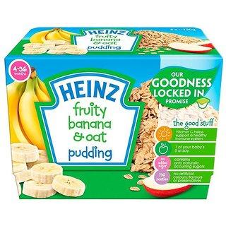 Heinz Fruity Banana & Oat Pudding 4Pk (4-36m) - 400G