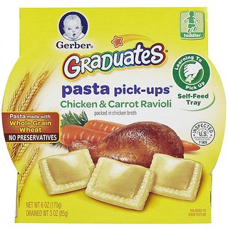 Gerber Graduates Pasta Pick-Ups 170G - Chicken & Carrot Ravioli