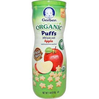 Gerber Organic Puffs 42G (1.48oz) - Apple