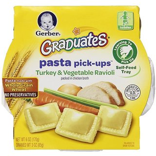 Gerber Graduates Pasta Pick-Ups 170G - Turkey & Vegetable Ravioli