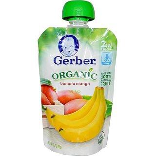 Gerber 2nd Foods 99G (3.5oz) - Organic Banana Mango