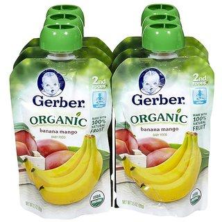 Gerber 2nd Foods 99G (3.5oz) - Organic Banana Mango (Pack of 6)