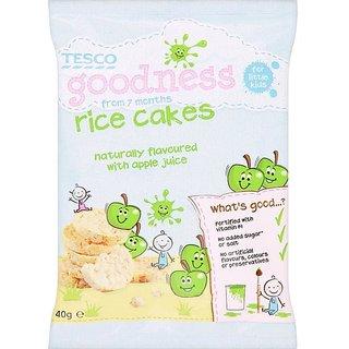Tesco Goodness Rice Cakes (7m+) 40G - Apple Juice