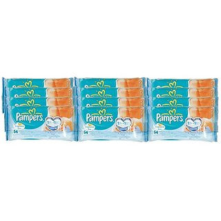 Pampers Baby Wipes 64Pc - Fragrance Free (Pack of 12)
