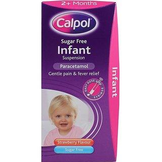 Calpol Sugar Free Infant Paracetamol - 100ml (Strawberry Flavour)