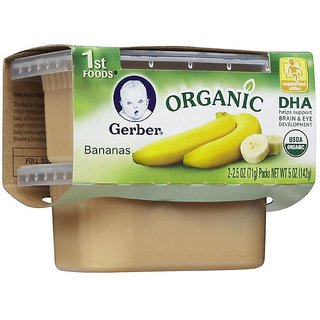 Gerber 1st Foods 2Pk 142G (5oz) - Organic Bananas