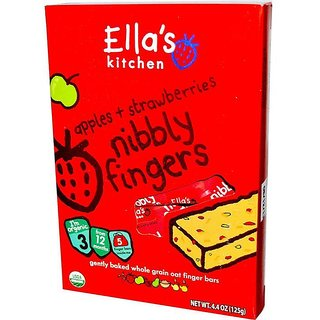 Ella's Kitchen Strawberries + Apples NiBBly Fingers (12m+) - 125G