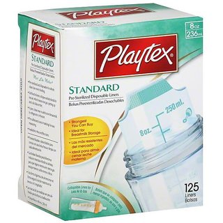 Playtex Standard Disposable Liners 8oz - 125Pc