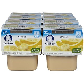 Gerber 1st Foods 2Pk 142G (5oz) - Bananas (Pack of 8)