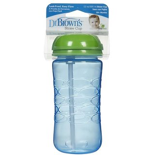 Dr Browns Straw Cup (18m+) - 355ml (12oz) (Blue)