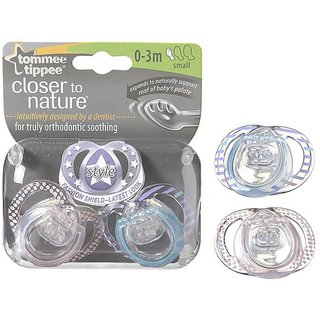 Tommee Tippee CTN Style Soother 2Pk (0-3M)
