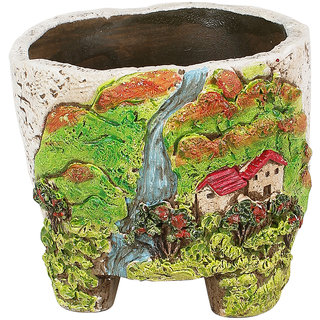 Beautiful Scenery Print 11.5 CM Planter Pot