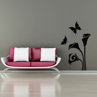 Butterflies And Arum Flower Wall Decal
