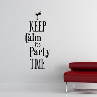 Keep Calm Its Party Time Wall Decal