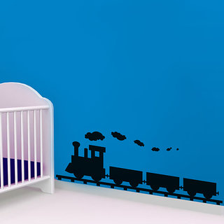 Train Wall Decal for Kids Room