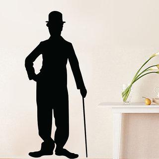 Charlie Chaplin Silhouette Wall Decal