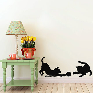 Cats At Play Wall Decal