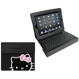Hello Kitty Keyboard And Case Combo - Black (HK-70189)