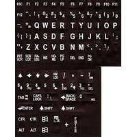Large Print English Keyboard Stickers Labels Overlays (